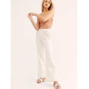 Free People NWOT Over the Rainbow Flare Jeans